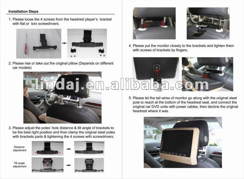 2012 Hot~~9 inch games backside headrest car dvd player