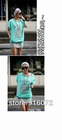Женские толстовки и Кофты 3 colors women casual sport suits hoodie top+skirt sportwear comfortable&fashion design Green/White/Yellow T0062