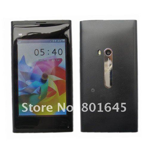 Freeshipping New Polish Russian N9 3.5''  touch screen built-battery unlocked phone