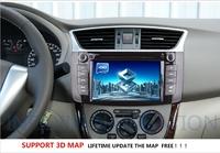 Автомобильный DVD плеер Nissan Sylphy 2012 Tiida 2011 2013 dvd gps with radio bluetooth/ 8G map card gift