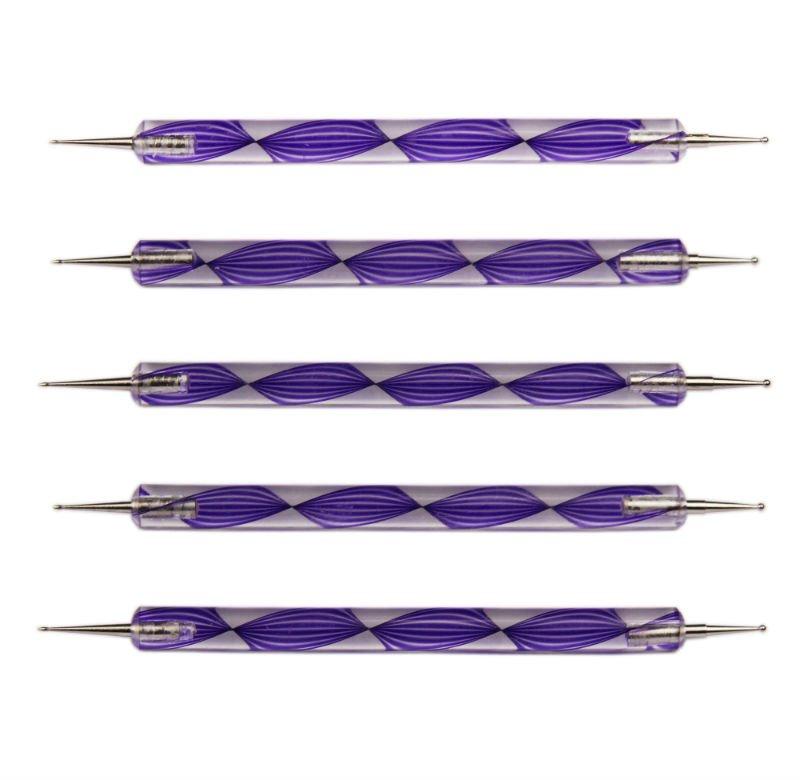 Purple Nail Art Design Dotting Pens/ tools /brush