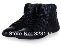Мужские ботинки 2013 Brand Lui Viton 100$ Genuine Leather Men's Shoes Casual Flats Shoes Fashion Men's High-top Boots Shoes 070301