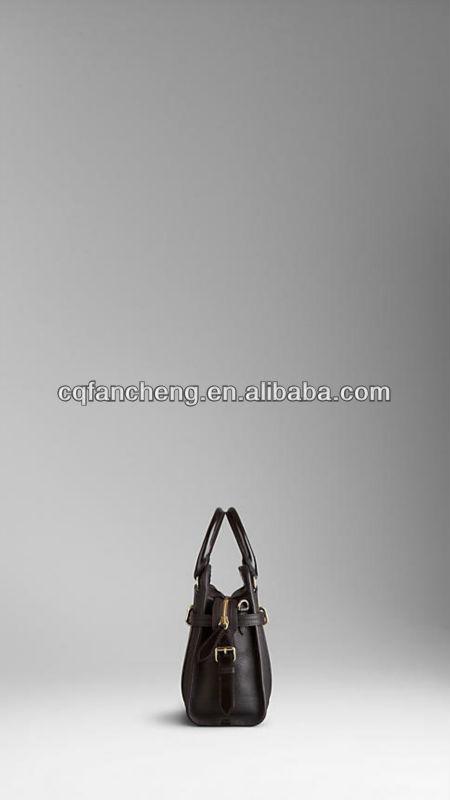 The medium high quality women/girls handbag, Elegant grainy leather tote bag
