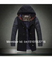 Free Shipping Men's down jacket men's parka outdoor sport winter jacket men cotton-padded jacket woolen overcoat M-XXL