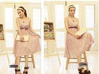 Free Shipping 2012 new stereo pleated skirt big finale long vest skirt dress women dress chiffon dress
