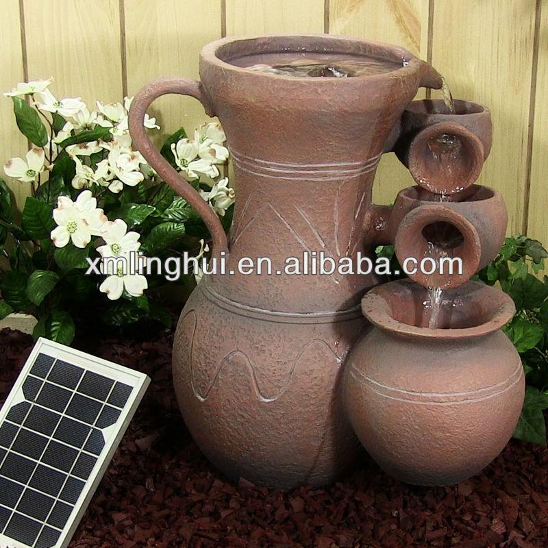 enfeites de jardim solar : enfeites de jardim solar:Solar Jardim Fonte de Água Do Polyresin-Outros enfeites e adornos de