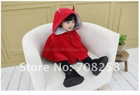 1pcs- Baby Girls/Kids/Children's Autumn& Winter Fashion Red Color Corduroy/Cotton Hooded Cloak, 657