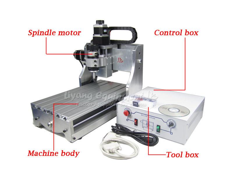 CNC Mini Desktop Engraving Machine 3020 Drilling Milling Carving Router work PCB Wood
