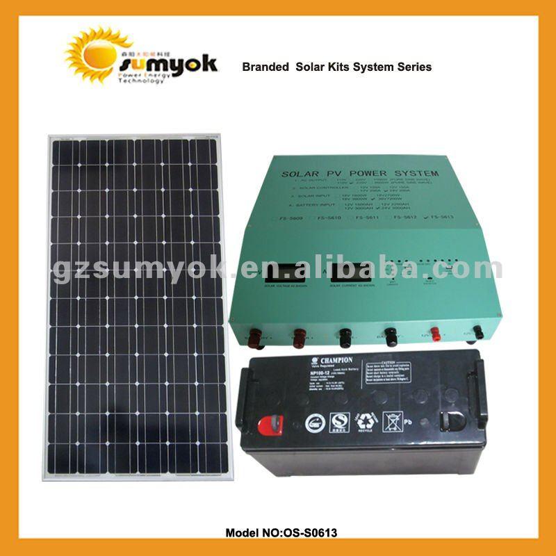 Portable solar power for home