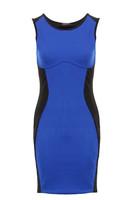 Women Patchwork O-neck Midi Tank Pencil Dress Slim Fit Celebrity Tunic Vest Go-to-Dress Large Size Evening Wear Wholesale A010