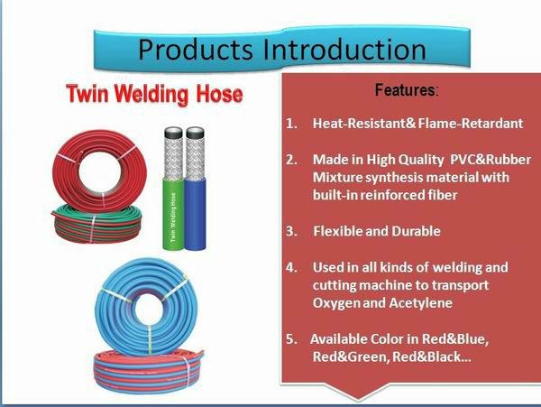PVC acetylene gas welding hose,twin welding hose,oxygen gas welding hoses