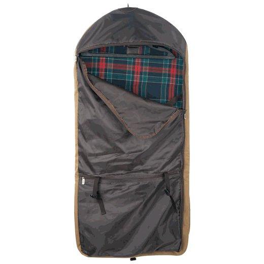 luxe hydrofuge toile voyage sac de v tement avec garniture en cuir v ritable housse pour. Black Bedroom Furniture Sets. Home Design Ideas