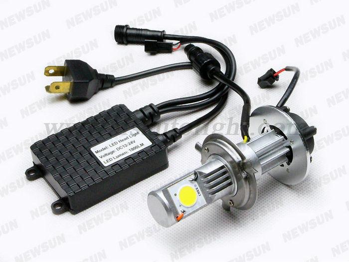China New H4 led headlight replace xenon hid kit! hot sale 12v 24v Auto Headlight Cree Chips car led headlight