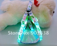 Free Shipping!!New Product! The Colorful Footprints Series-LED Dog Harness TZ-PET3505 Flashing dog harness MOQ 3 Pieces!
