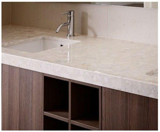 lucidatura marrone marmo sintetico per vanità top-Pietra ...