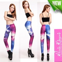 Женские носки и Колготки Hot Sexy Tights Women Galaxy Leggings Starry Night Space Print Pants Black Milk Sky Milky Stretchy Leggings 13296