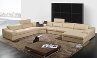 Диван Natuzzi sofa, with L-shaped genuine leather