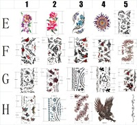 Товары для макияжа mix order 20pcs/lot Dropshipping Design Quality Waterproof Temporary Tattoo body arm leg tattoo stickers