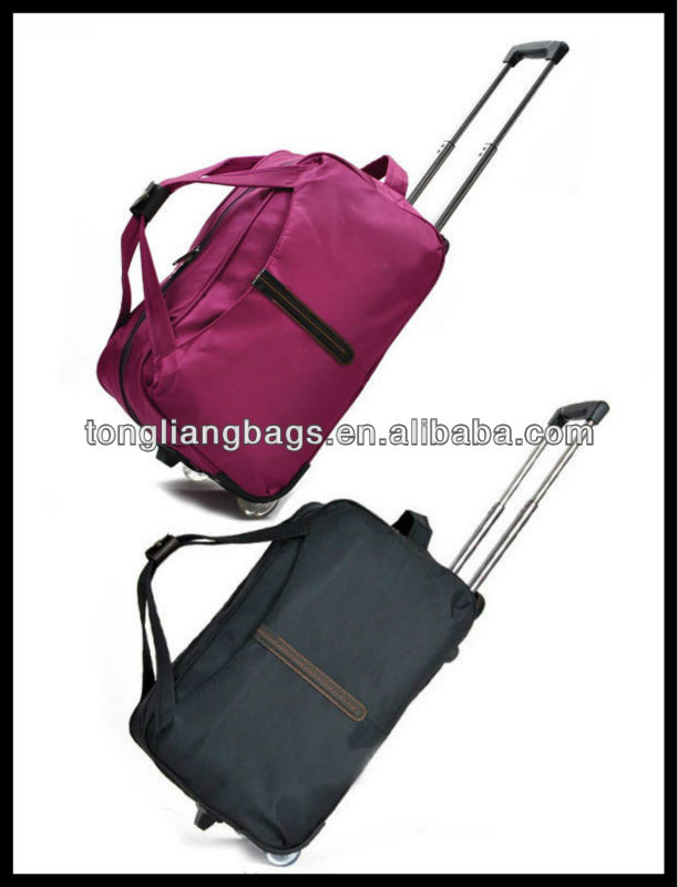 fashionable trolley travel bag &luggage bag&duffel bag with trolley