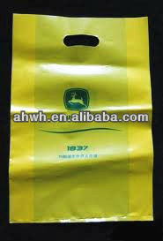 die cut retail plastic bags for shopping