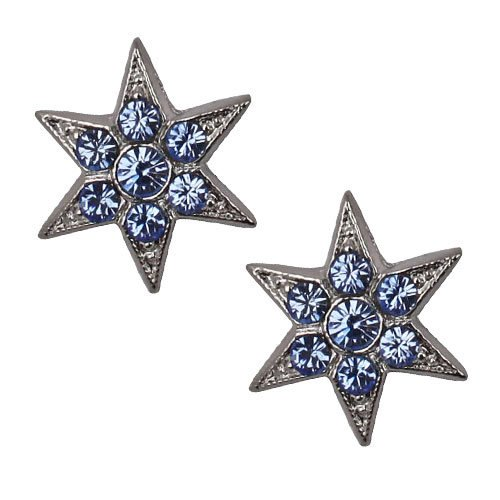 NEW KIRKS FOLLY STAR BRIGHT LIGHT BLUE CRYSTAL POST EARRINGS SILVERTONE.jpg