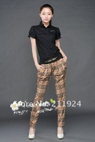 Free CNRAM 2012 fashion plaid casual loose harem pants casual pants wide leg pants trousers female