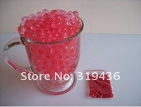 Кристаллическая почва stunning centrepiece Rose red crystal soil water gel beads pearl hydrogel jelly ball for multifunction decoration