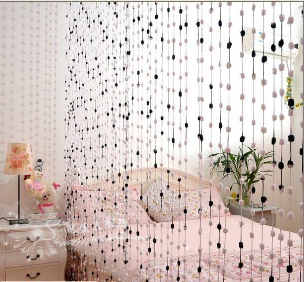 Нитевые шторы в интерьере фото из помпонов своими руками