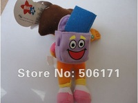 High Quality Soft Plush Cute Dora the Explorer Dora With Backpack Plush Dolls Toy 8inch 22cm