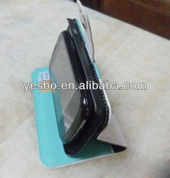 High quality PU Wallet Standing leather case for samsung galaxy s4 i9500