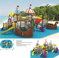 Pirates ship theme children outdoor playground equipment HD-088A