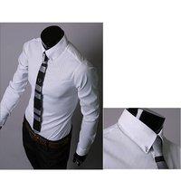 Мужская Роскошные стильные повседневные платья мышцы подходят рубашки ромбические Клетчатая рубашка 5912 i0078
