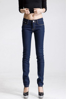 Free Shipping 2012 skinny pants slim plus size pencil pants thickening plus Wowen's Jeans 021