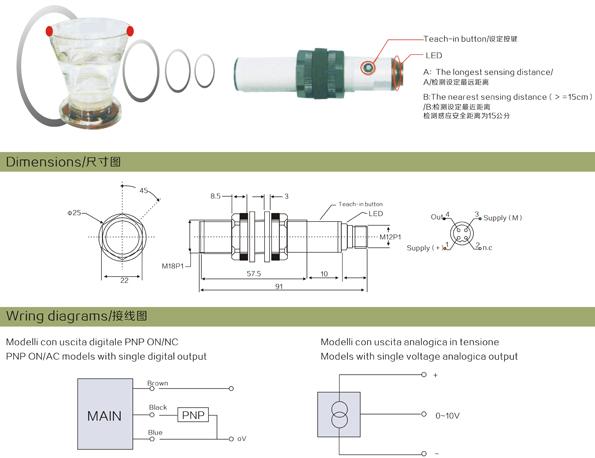 RU-18 ultrasonic sensor ultrasonic water flow sensor