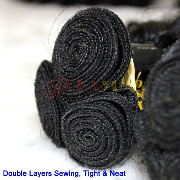 wholesale100%curly Virgin brazilian human hair sew in weave