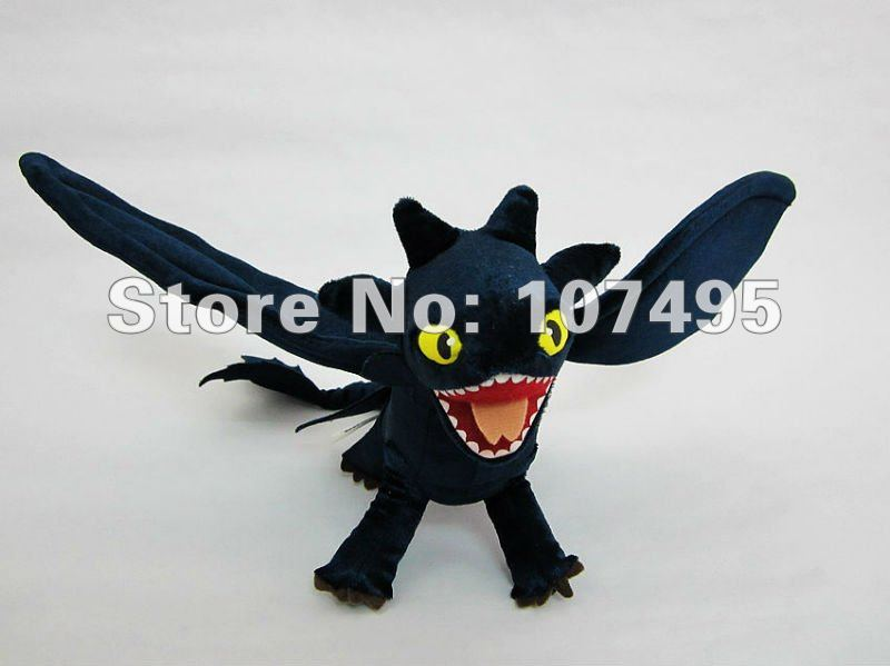 Toothless Dragon Night Fury How to Train your Dragon Plush Toys Stuffed Dragon  Animals  18 Inch WHolesale