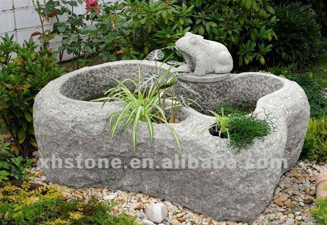 Fuentes para el jard n natural de piedra del p jaro - Fuentes de jardin de piedra ...