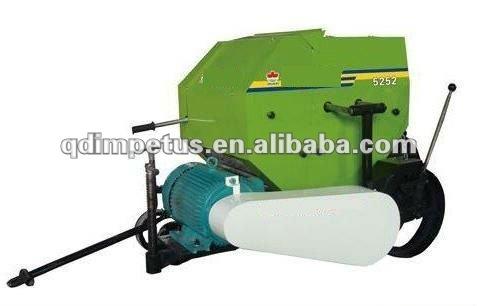 round maize silage bale making machine