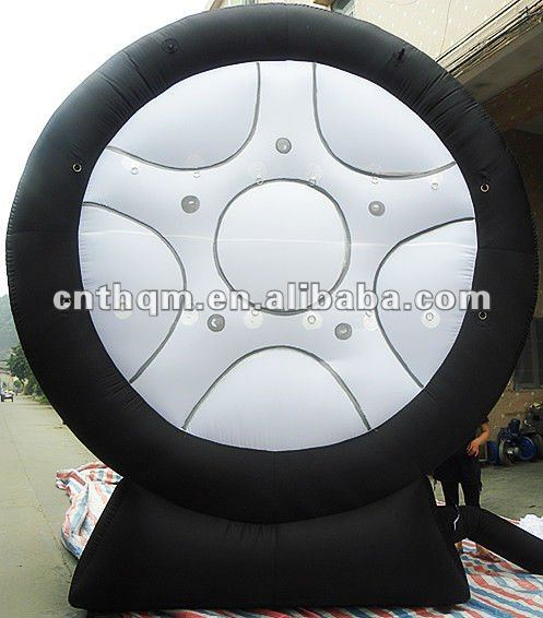Outside Inflatable Tyre Advertising Model