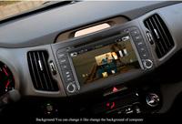 Автомобильный DVD плеер 8 inch KIA sportage r/Sportage dvd gps 2010 2011 with radio bluetooth/ 8G map card gift +Reverse camera gift