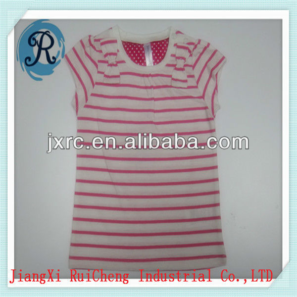 OEM china factory fashion O-neck short sleeve single jersey 100% cotton 180 GRS baby dress pictures