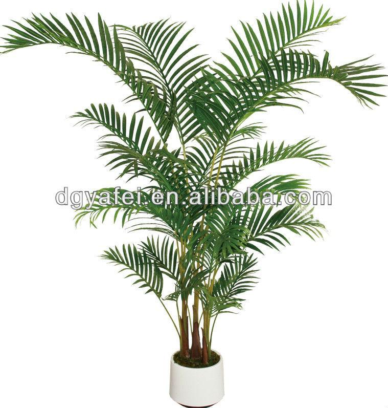Bambou artificiel feuilles de palmier plantes vert pot for Plante verte haute exterieur