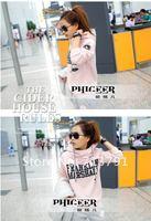 Женские толстовки и Кофты 2012 Spring/sutumn Korean Women Leisure Sports Hoodie Set 3pcs/set &2pcs/set Thickening lady Sweater, women tracksuit