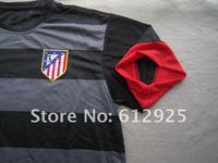 Спортивная майка 12/13 Atletico de AT Madrid Best quality soccer jerseys away black shirt football kit uniforms sport clothes #9 Falcao