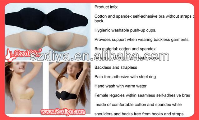 2015 Latest hot girls silicone sexy bra, bra factory in china