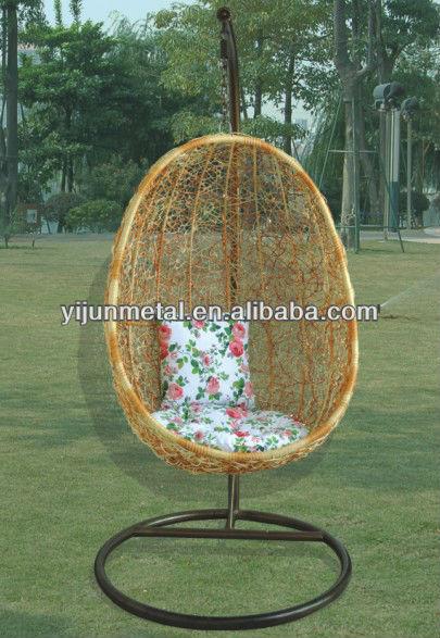 aluminum rattan hanging chair