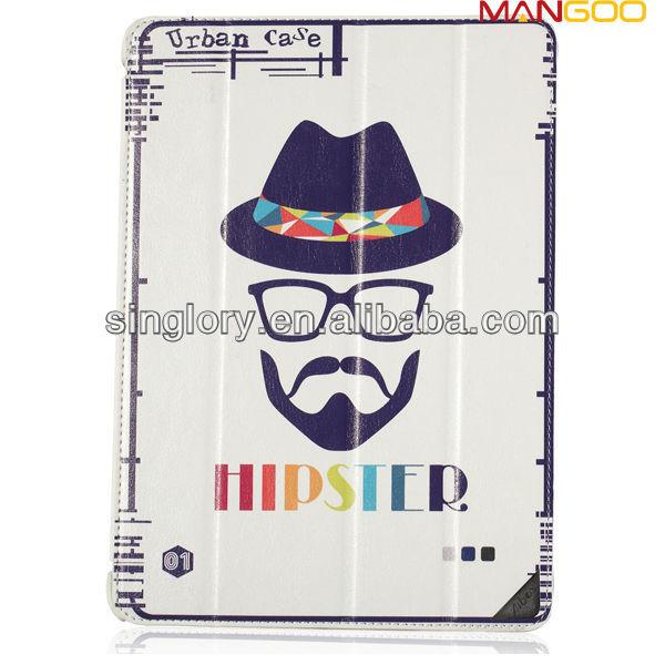 For ipad mini 2 cover, for ipad mini2 printing leaher case