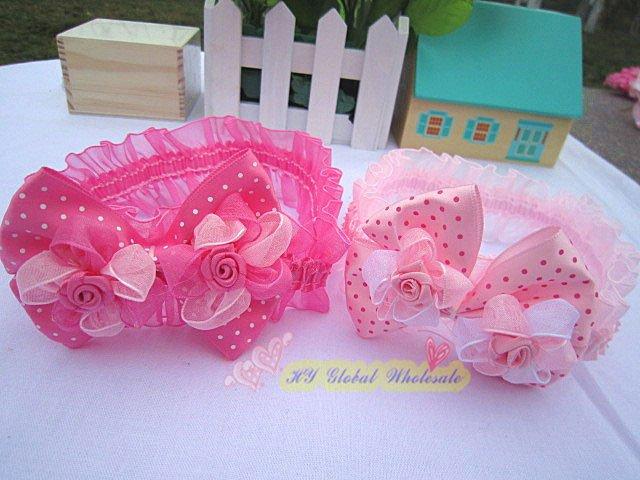 Nueva doble flor color de rosa bandas para la .