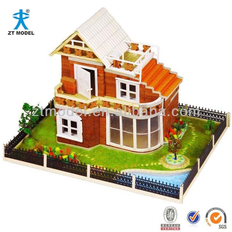 Dream Land DIY Brick House Model Kits Educational Toys, View ...