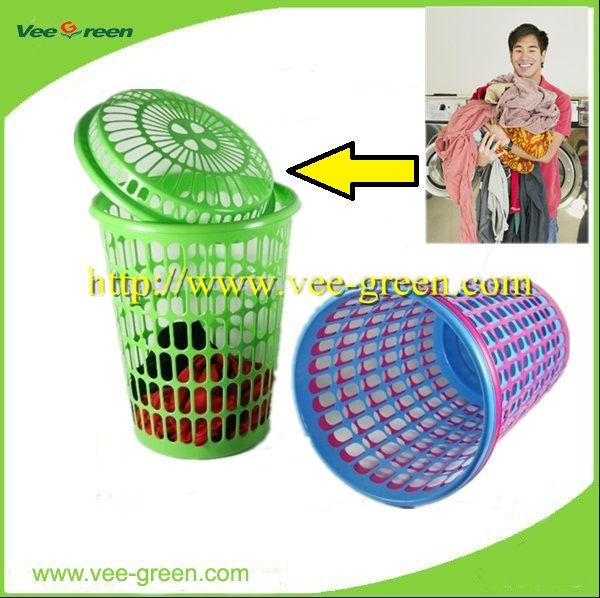 Plastic laundry basket laundry hamper 65l view laundry basket vee